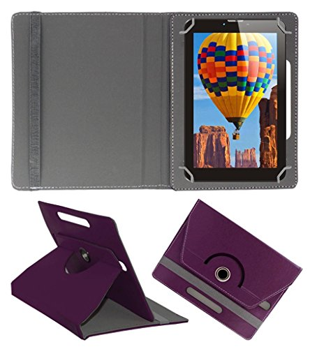 Acm Rotating 360° Leather Flip Case For Tescom Bolt 3g Tablet Cover Stand Purple  available at amazon for Rs.149
