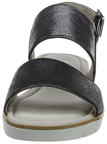 Gabor Shoes Fashion, Sandales Bout Ouvert Femme Noir (schwarz 67)