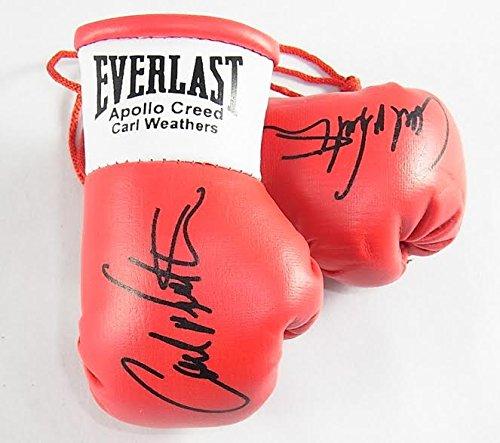 Everlast Apollo Creed (Carl Weathers) Handsignierte Mini Boxhandschuhe (von Rocky 1,2,3 und 4)