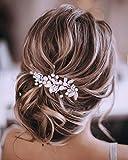 Unicra Argent Mariage Cristal Cheveux Vignes Fleur Feuille Headpieces Accessoires De Cheveux De Mariage Pour La Mariée