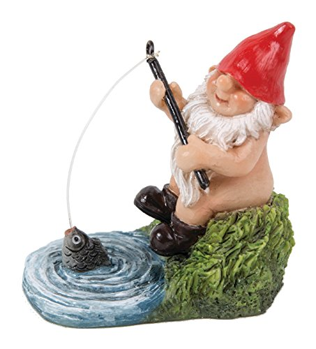 Gnaughty the Skinny Fishing Gnome