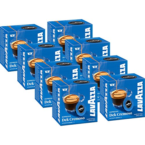 Lavazza A Modo Mio Espresso Dek Cremoso, 8x 16 Caps (8x 120g)