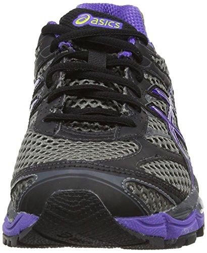 Asics Gel-Cumulus 16 G-TX, Scarpe sportive, Donna Carbon/Purple/Lime 7436