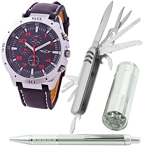 Montre-Concept - Coffret Cadeau Montre Homme avec Couteau Multifonction,  Lampe de Poche et 2b2f9d462d9
