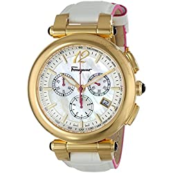 Salvatore Ferragamo Women's FI3020014 IDILLIO Analog Display Swiss Quartz White Watch