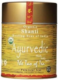 The Tao of Tea Ayurvedic Tea Shanti, Certified Organic, 3.5 Ounce Tin