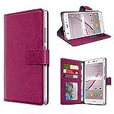 eFabrik Schutztasche für Huawei Nova Hülle Smartphone Case Tasche mit Aufsteller und Innenfächer Handy-Zubehör, Farbe:Lila