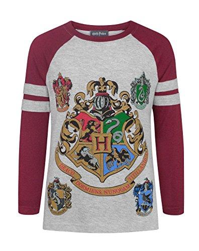Harry Potter Hogwarts Girl's Raglan T-Shirt (5-6 Years)