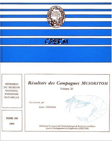 Résultats des campagnes, musorstom, volume 20