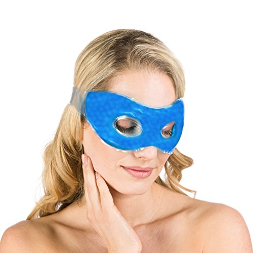 Hochwertige Wellura Gel Augenmaske - Entspannungsmaske und Wellnessmaske - kühlende Augenmaske gegen Augenringe - Kühlmaske für die Augen - Gelmaske gegen Migräne mittels Kälte- oder Wärmetherapie