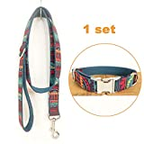 TVMALL Hundehalsband-Set, verstellbar, für den Außenbereich, mit Leine, Halsband im Bohemian-Stil, für mittelgroße und Kleine Hunde