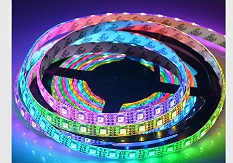 5M APA102C RGB Farbe 5050 RGB Adressable LED flexible Streifen Licht 5m 300 Pixel DC 5V weiße Platine wasserdicht (500 Pixel Weihnachten)