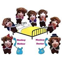 Homgaty Monkeys Jumping On The Bed Cartoon Hand Finger Puppets Toys Dolls Nursery Fairy Tale for Children Kids