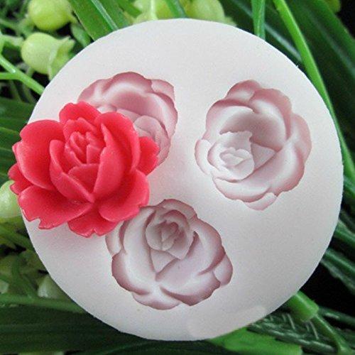 Silikon Fondantform Kuchen Dekor Handwerk Zucker Schokolade Form Rose M Kuchenform (Schokoladenform Rose)