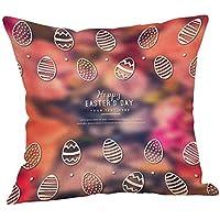 LEEDY_Funda de almohada Feliz de Pascua | patrón Delicado Hermoso Abrazo Funda de Almohada | sofá