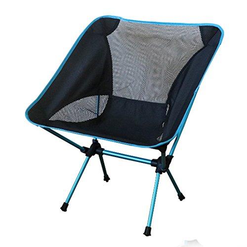 NoyoKere Praktische Ultra Light Klapp Angeln Stuhl Sitz für Outdoor Camping Freizeit Picknick Strand Stuhl Himmelblau (Faltbare Angeln Boot)