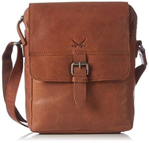 Sansibar Damen Umhängetaschen, Braun (brandy), 22x28x7 cm - Brandy Handtaschen Aus Leder