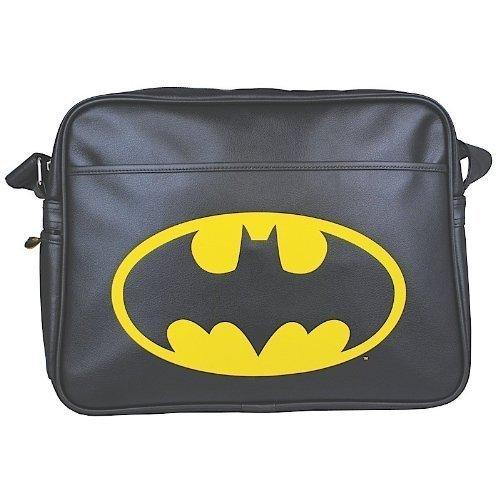 Batman 1012347910 Sac à bandoulière avec logo, acier inoxydable, blanc, 9 x 4 x 4 cm