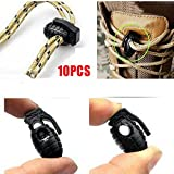 Beautyrain 10 Pcs/Lot EDC Gear Tactical Outdoor Climbing Hiking Boots Shoes Shoelace Tightening Non Slip Buckle Shoelace Buckle Clip