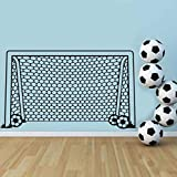 xlei Sticker Mural Football Football But Net Ballon De Sport Sticker Vinyle Décor...