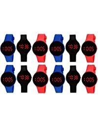 Pappi Boss Automatic Movement Digital LED Multicolour Dial Watch for Kids(Pack of 12)