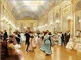 POSTERLOUNGE Alu Dibond 130 x 100 cm: The Ball by Victor Gabriel Gilbert/Bridgeman Images