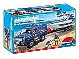 Playmobil Coche de Policia con Lancha, (5187)