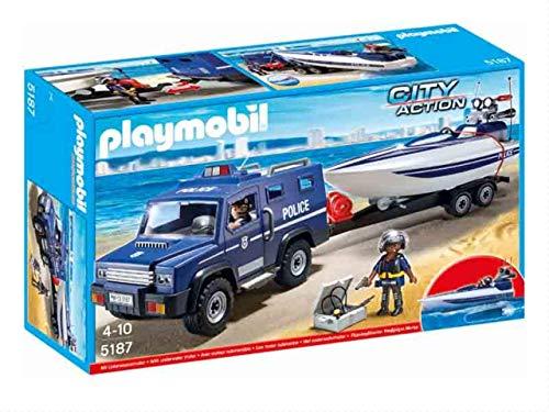 Playmobil Coche de Policia con Lancha