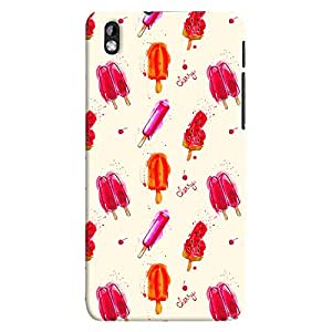 ColourCrust HTC Desire 816 / 816G Dual Sim Mobile Phone Back Cover With Ice Cream Pattern Style - Durable Matte Finish Hard Plastic Slim Case