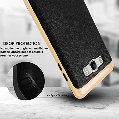 Samsung ON8 – Samsung J7 (2016) Cover, REALIKE™ Premium {Imported} Shock Proof Case for Samsung J7 (J710-2016) Samsung ON 8 (VERGE SERIES- Gold)