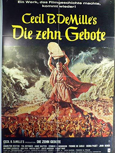 Die zehn Gebote - Charlton Heston - Yul Brynner - Filmposter A1 84x60cm gefaltet