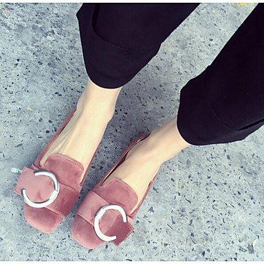 Confortevole ed elegante piatto scarpe donna tacchi altri Esterno in similpelle nero grigio verde Borgogna Pink