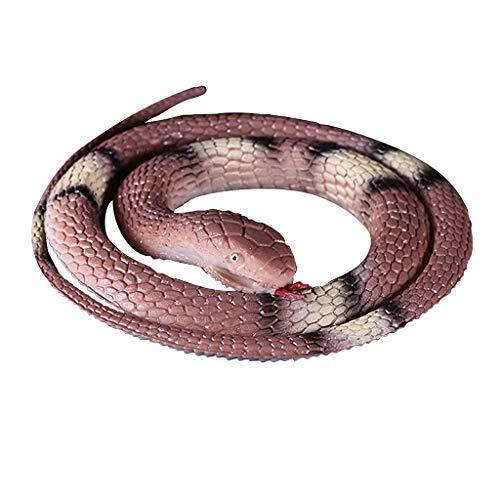Neu Gummi Schlange Spielzeuge Schlangen Party Tasche Füllstoffe Halloween Stütze Scherz Weich Solide Python Modell Dschungel (1-jährigen Halloween Für Taschen)