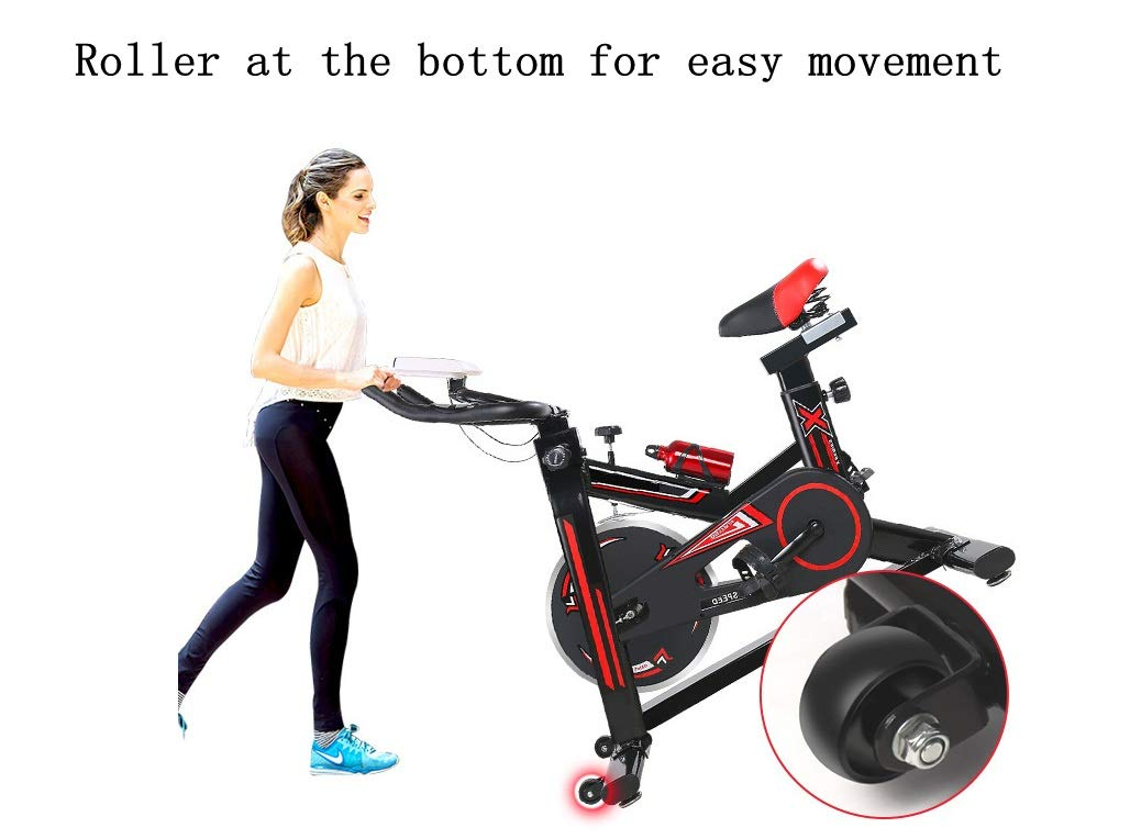 51PMbM15aML - YHSport Indoor Cycling Exercise Bike, F-Bike Home Trainer Flywheel Adjustable Magnetic Resistance, 2-Piece Crank, 5-Function Monitor, Emergency Stop System, Ergonomic Fully Adjustable Seat