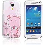 tinxi® Harte Schutzhülle für Samsung Galaxy S4 mini i9190 i9192 i9195 Hülle hard Skin Cover Case Tasche Protector Schale Etui mit pink Bär