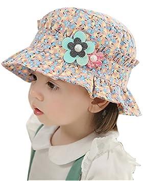 TININNA Bambino cotone cappello del sole protezione Cappello spiaggia  estate del Cappelli rosa blu 91bee95b8b6c
