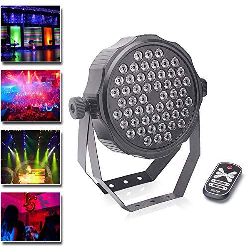 UKing Par LED Strahler, 54 * 2W RGBW Beleuchtung Scheinwerfer mit Fernbedienung und Automatic, DMX, Strobe, Sound Actived Modi Licht für Party Bar Show Wedding Club (1 stück)