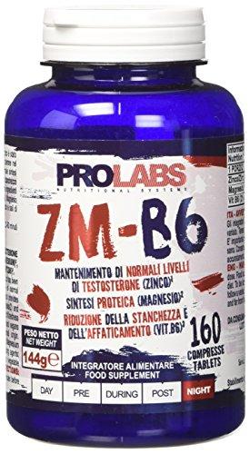 Prolabs zm-b6 - zinco e magnesio - barattolo da 160 cpr