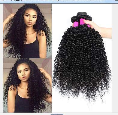 8A tissage bresilien boucle 16 18 20 pouce cheveux naturel bresilienne tissage cheveux naturels bresilien cheveux couleur naturelle (100 +/-5G)/pc,300g total