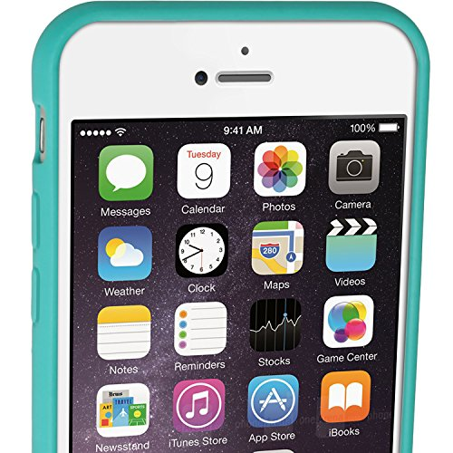 igadgitz Solides Schwarz Glänzend Etui Tasche Hülle Gel TPU für Apple iPhone 7 & 8 4.7 Zoll Case Cover + DisplayschutzDolie Blau Grün mit Schmetterling Design