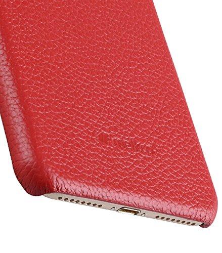 Apple Iphone 7 Melkco Elite-Serie Premium Leder-Snap zurück Tasche Tasche mit Premium-Leder Handgefertigte gute Schutz, Premium Feel-Tan Red LC 1