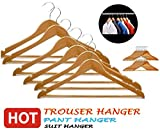 #3: GKP Products ® Pack of 6 Wooden Cloth Hangers Model 431970