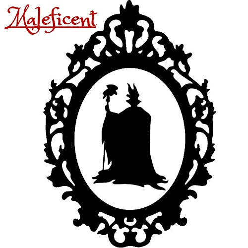 Disney Villain Schurke Silhouette Halloween Gothic Sticker Aufkleber Maleficent Wall Window Home Haunted Haus Vinyl Abziehbild Decal