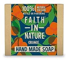 Faith in Nature Savon Main Naturel Orange, Détoxifiant, Végan et Respectueux des Animaux, Sans Parabènes et Sans SLS, 100g