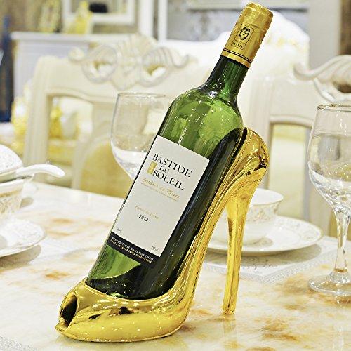 Xuanku Wein - Rack Ornamente Moderne Handwerkliche Kunst Kreative Kabinett Dekor Inneneinrichtungsgegenstände Europäischen Stil Wohnzimmer,High - Heel Wein Rack - Kunst-kabinett
