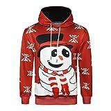 Soupliebe Herren Herbst Winter 3D Weihnachten Langarm mit Kapuze Sweaterhirt Top