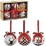 Set di 6 baubles di Natale di lusso Decorazione tradizionale dell
