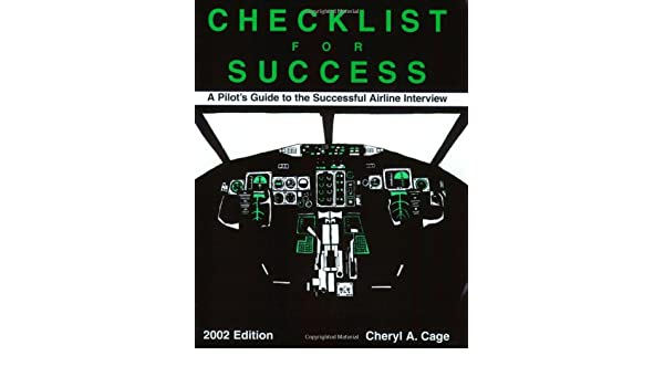 Buy Checklist for Success: A Pilot's Guide to Successful Airline