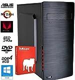 Office PC mit AMD Vega Grafik und Ryzen Prozessor ! AMD Ryzen 3 2200G 8GB DDR4 RAM 1TB + 240GB SSD DVD-Brenner Windows 10 Pro Virenschutz Bullguard W10Pro