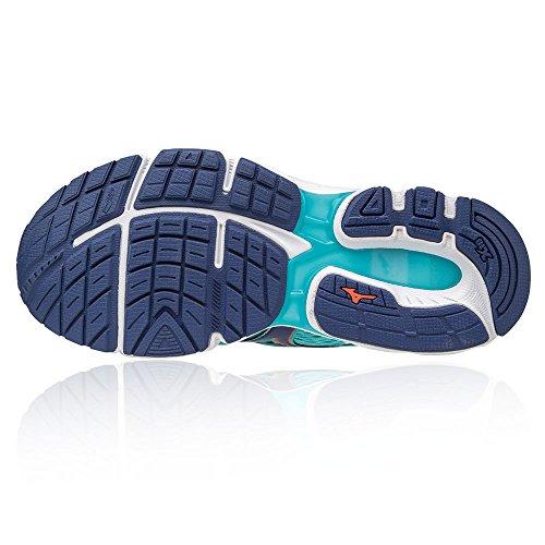 Mizuno Wave Inspire 13 W, Chaussures De Sport Bleues Pour Femmes